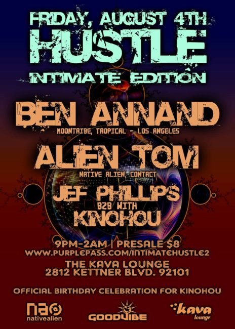 Hustle August 4 Kava Lounge