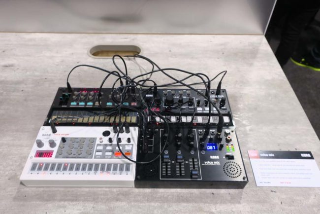Korg Volca Mix and 3 Korg Volcas