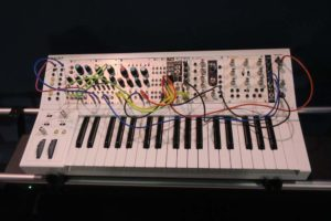 Blurry Pic, 500 Series Power Supply Module with attached Midi Key Pad