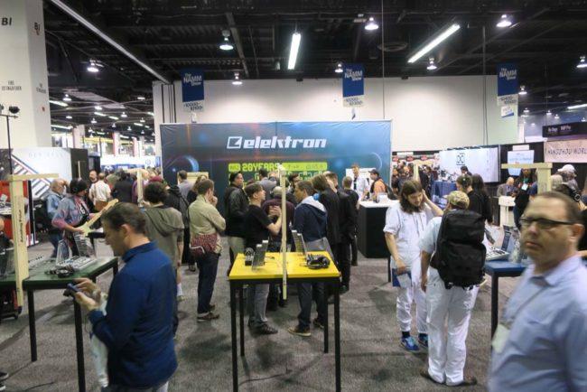 Elektron Booth at NAMM Show 2018